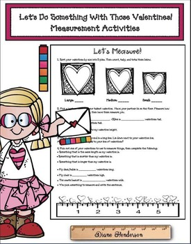 Let's Do Something With Those Valentines! Measurement Activities