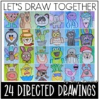 Let's Draw Together!  24 Directed Drawings with Writing Pages
