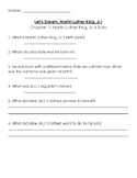 Let's Dream, Martin Luther King, Jr.! biography comprehension questions