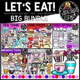 Let's Eat - Food Clip Art Big Bundle {Educlips Clipart}