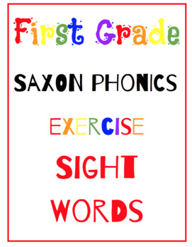 Let's Exercise to Saxon Phonics Sight Words- Complete with exercising prompts