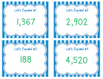Let's Expand - Place Value Practice Writing Numbers in Expanded Notation/Form