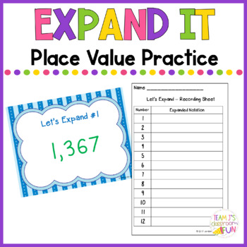 Lets Expand Place Value Practice Writing Numbers In Expanded
