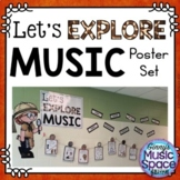 Let's Explore Music Bulletin Board Poster Set