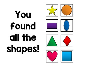 Let's Find Shapes Adaptive Book