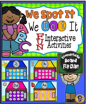 Letter Identification PROMETHEAN BOARD Flip Chart and Printables