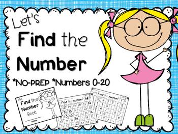 Let's Find the number book ~ NO-PREP