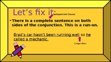 Let's Fix It: Fragments, Run-ons, and Comma Splices