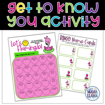 Let's Flamingle First Day of School Activity