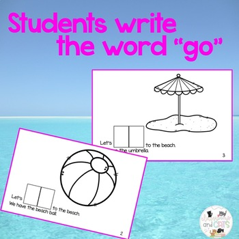 Let's GO to the beach interactive Sight Word Reader