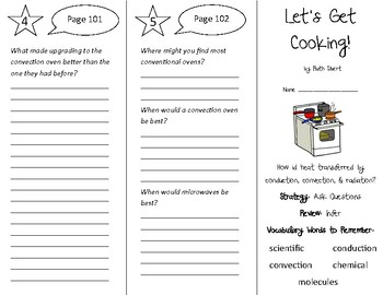 Let's Get Cooking! Trifold - 5th Grade Literacy by Design Theme 3
