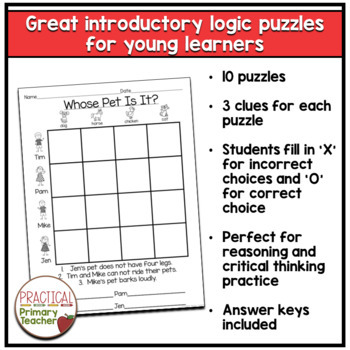 Logic Puzzles for Primary Students