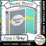 Let's Get Organized - AQUA and GRAY - Music Binder Covers