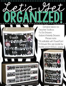 Editable Teacher Toolbox and More! {Kidlettes Zebra Print}