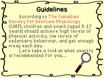 Let's Get Physical- A physical activity PowerPoint
