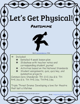 The Physical Aspects of Acting - Pantomime