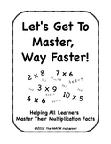 Multiplication Fact Mastery Workbook