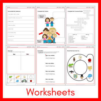 Let's Go 1 - Unit 4 Worksheets (+130 Pages!)