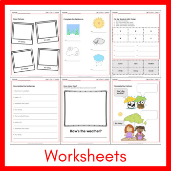 Let's Go 1 - Unit 6 Worksheets (+130 Pages!)