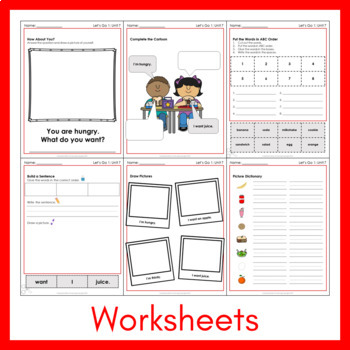 Let's Go 1 - Unit 7 Worksheets (+140 Pages!)