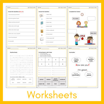 Let's Go 2 - Unit 1 Worksheets (+130 Pages!)