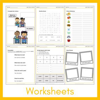 Let's Go 2 - Unit 5 Worksheets (+220 Pages!)