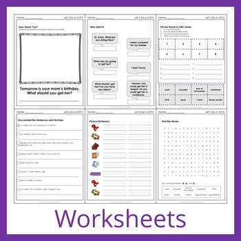 Let's Go 6 - Unit 3 Worksheets (+90 Pages!)