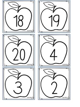 Let's Go Apple Pickin' A Ten Frame Activity FREEBIE