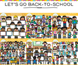 Let's Go Back to School Clip Art BUNDLE