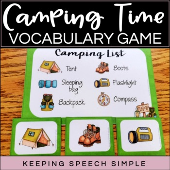 Vocabulary Games for Early Learners - Camping Themed