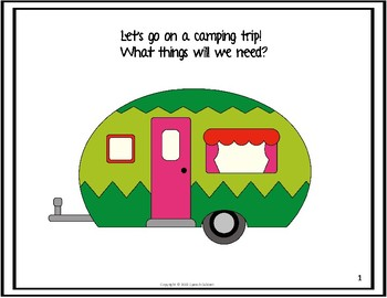 Let's Go Camping- An Interactive Story (Print or No Print)