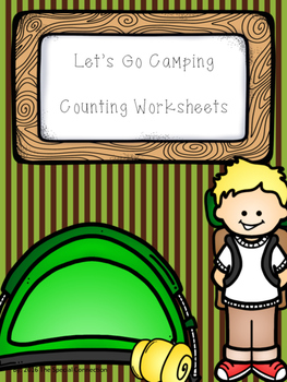 Let's Go Camping Counting Worksheets