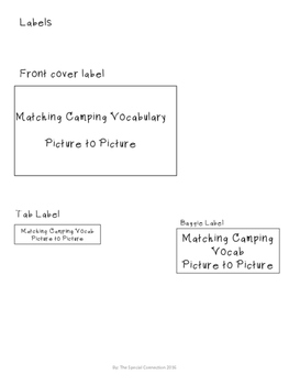 Let's Go Camping... File Folder