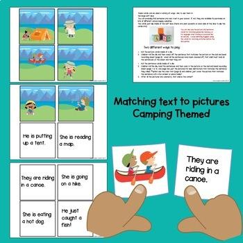 Let's Go Camping Literacy and Math Mega Set