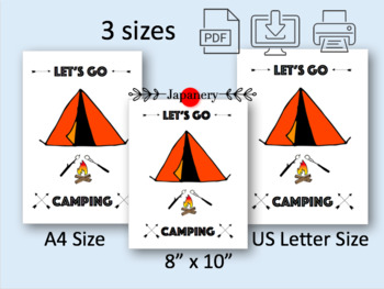 Let's Go Camping Poster/Wall Art Printable