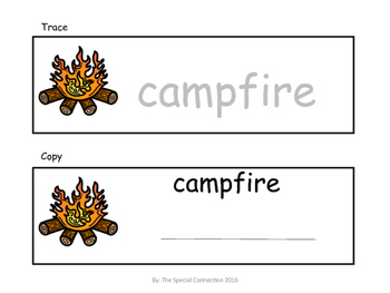 Let's Go Camping! Writing and Spelling Task Cards