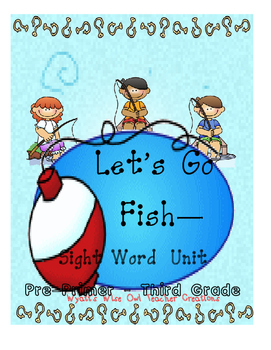 Let's Go Fish Pre-Primer - Third Grade Sight Word Game