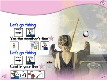 Let's Go Fishing - Animated Step-by-Step Poem - PCS
