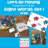 Let's Go Fishing Companion Cards- Sight Words Set 1