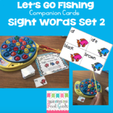 Let's Go Fishing Companion Cards- Sight Words Set 2