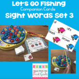 Let's Go Fishing Companion Cards- Sight Words Set 3