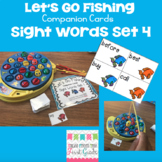 Let's Go Fishing Companion Cards- Sight Words Set 4