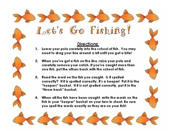 Let's Go Fishing! (Conventional Spelling)