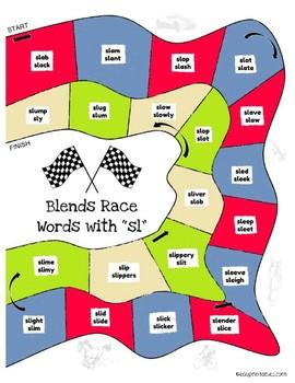 Let's Go! L Blends Word Race