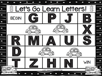 Let's Go Learn Letters:  NO PREP Go to School Themed Letter Identification Game