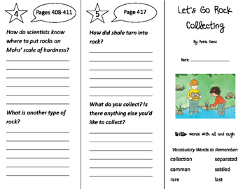 Let's Go Rock Collecting Trifold - Storytown 2nd Grade Uni