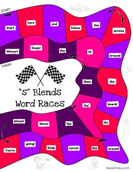 Let's Go! S Blends Word Race