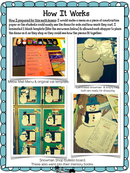 Let's Go Shopping! Addition & Subtraction Halloween Cats, Snowmen, & Leprechauns