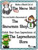 Let's Go Shopping! Addition & Subtraction Halloween Cats, Snowmen, & Leprechauns