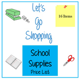 Let's Go Shopping - School Supplies 16 Items